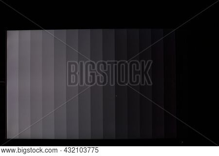 Black Gray Stripes On Computer Display With Mouse Pointer In The Middle - Calibration Of The Display