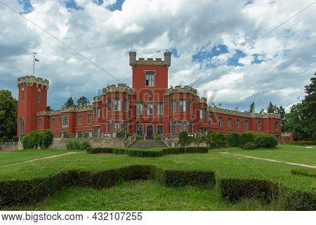 Hradek U Nechanic, Czech Republic - July 10, 2020. The Czech Romantic Chateau Built As A Residence O