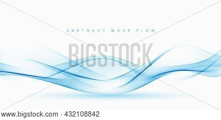 Abstract Vector Blue Wave Vector Background Wave Flow