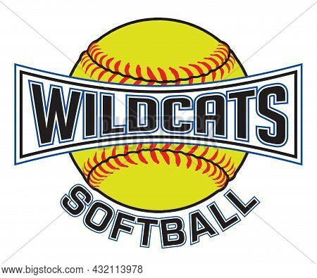 Wildcats Softball Graphic Is A Sports Design Which Includes A Softball And Text And Is Perfect For Y