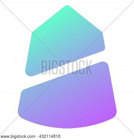 Apricot Finance Logo Icon Defi Protocol On The Solana Blockchain Isolated On White. Vector Illustrat