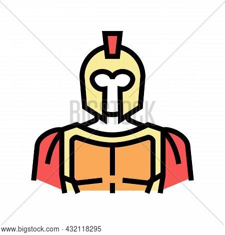 Spartan Ancient Greece Color Icon Vector. Spartan Ancient Greece Sign. Isolated Symbol Illustration