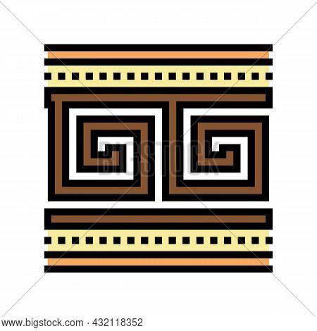Ornament Ancient Greece Color Icon Vector. Ornament Ancient Greece Sign. Isolated Symbol Illustratio