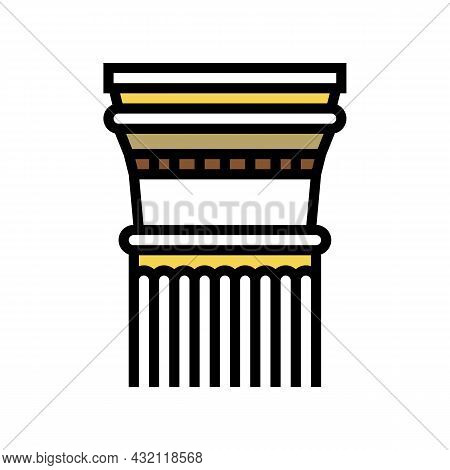 Column Ancient Rome Color Icon Vector. Column Ancient Rome Sign. Isolated Symbol Illustration