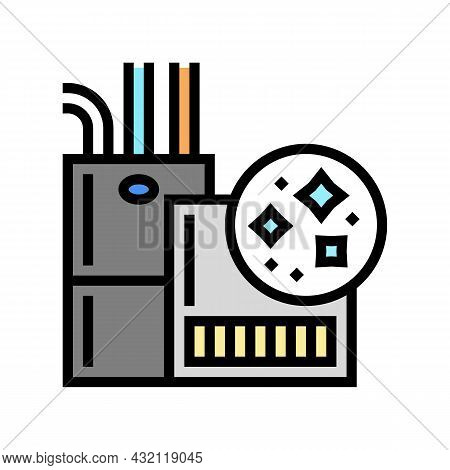 Indoor Air Quality Color Icon Vector. Indoor Air Quality Sign. Isolated Symbol Illustration