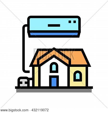 Residential Conditioning System Color Icon Vector. Residential Conditioning System Sign. Isolated Sy