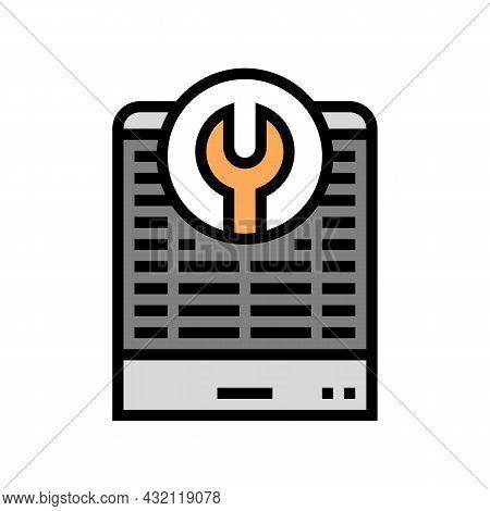 Heat Pump Repair Color Icon Vector. Heat Pump Repair Sign. Isolated Symbol Illustration