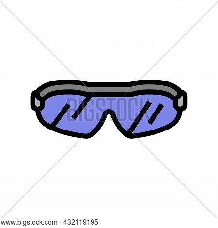 Sunglasses Golf Player Accessory Color Icon Vector. Sunglasses Golf Player Accessory Sign. Isolated