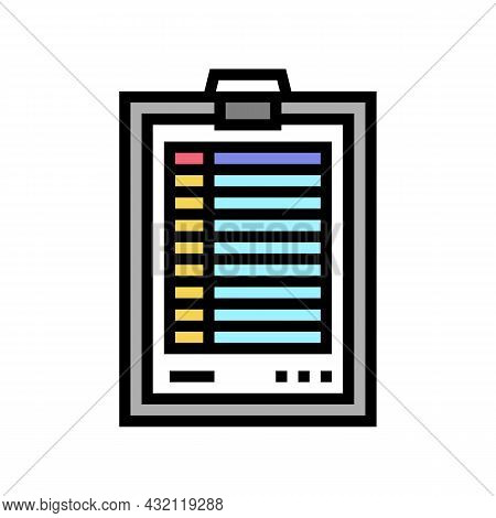 Score Paper Golf Game Color Icon Vector. Score Paper Golf Game Sign. Isolated Symbol Illustration