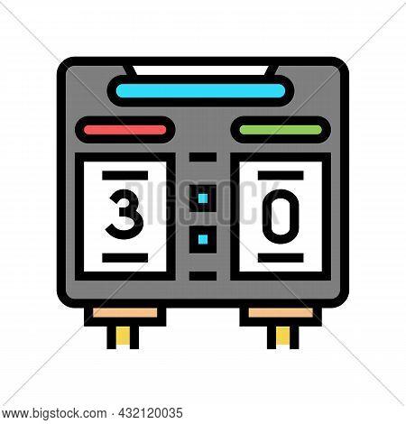 Scoreboard Soccer Color Icon Vector. Scoreboard Soccer Sign. Isolated Symbol Illustration