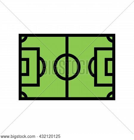 Field Soccer Color Icon Vector. Field Soccer Sign. Isolated Symbol Illustration