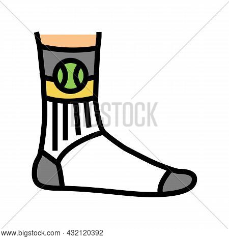 Socks Tennis Player Color Icon Vector. Socks Tennis Player Sign. Isolated Symbol Illustration