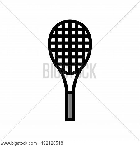 Racquet Tennis Color Icon Vector. Racquet Tennis Sign. Isolated Symbol Illustration