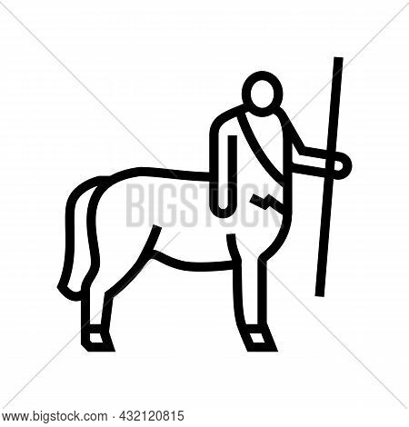 Centaur Ancient Greece Line Icon Vector. Centaur Ancient Greece Sign. Isolated Contour Symbol Black