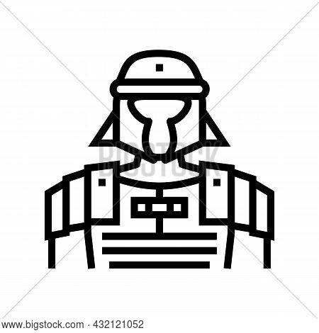 Legionary Ancient Rome Warrior Line Icon Vector. Legionary Ancient Rome Warrior Sign. Isolated Conto