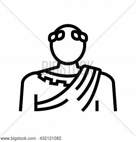 Emperor Ancient Rome Line Icon Vector. Emperor Ancient Rome Sign. Isolated Contour Symbol Black Illu