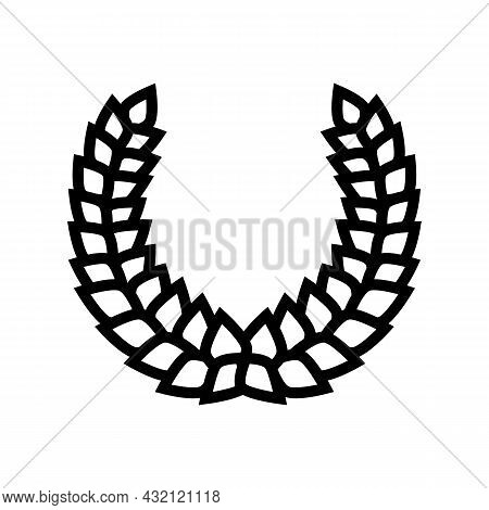 Laurel Wreath Ancient Rome Line Icon Vector. Laurel Wreath Ancient Rome Sign. Isolated Contour Symbo