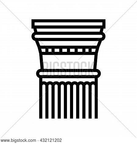 Column Ancient Rome Line Icon Vector. Column Ancient Rome Sign. Isolated Contour Symbol Black Illust