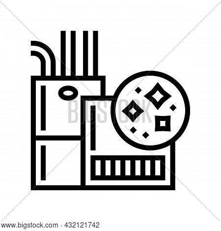 Indoor Air Quality Line Icon Vector. Indoor Air Quality Sign. Isolated Contour Symbol Black Illustra
