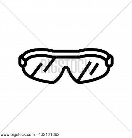 Sunglasses Golf Player Accessory Line Icon Vector. Sunglasses Golf Player Accessory Sign. Isolated C