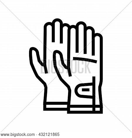 Gloves Golf Player Accessory Line Icon Vector. Gloves Golf Player Accessory Sign. Isolated Contour S