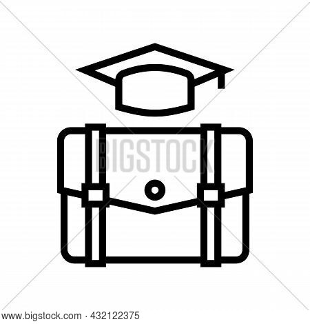 Educational Process Line Icon Vector. Educational Process Sign. Isolated Contour Symbol Black Illust