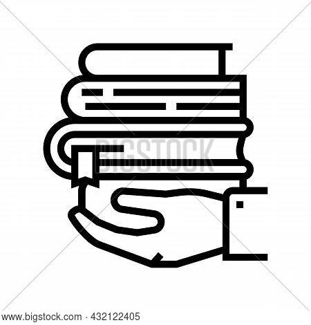 Educational Literature Line Icon Vector. Educational Literature Sign. Isolated Contour Symbol Black
