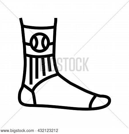 Socks Tennis Player Line Icon Vector. Socks Tennis Player Sign. Isolated Contour Symbol Black Illust