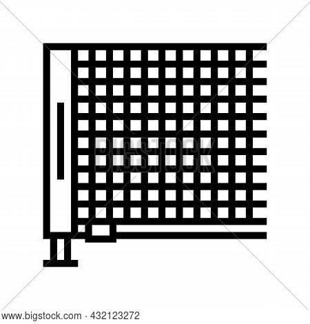 Net Tennis Accessory Line Icon Vector. Net Tennis Accessory Sign. Isolated Contour Symbol Black Illu