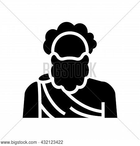 Human Ancient Greece Glyph Icon Vector. Human Ancient Greece Sign. Isolated Contour Symbol Black Ill