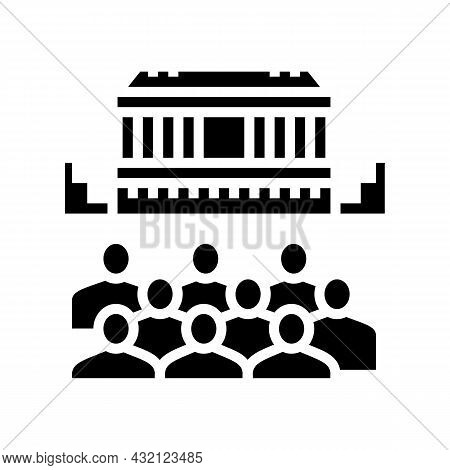 Theater Ancient Greece Glyph Icon Vector. Theater Ancient Greece Sign. Isolated Contour Symbol Black
