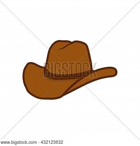 Cowboy Icons. Western Style Cowboy Hat Icon Vector Template Flat Design Illustration Design. Cowboy