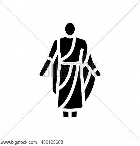 Toga Ancient Rome Glyph Icon Vector. Toga Ancient Rome Sign. Isolated Contour Symbol Black Illustrat