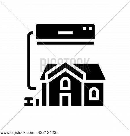 Residential Conditioning System Glyph Icon Vector. Residential Conditioning System Sign. Isolated Co