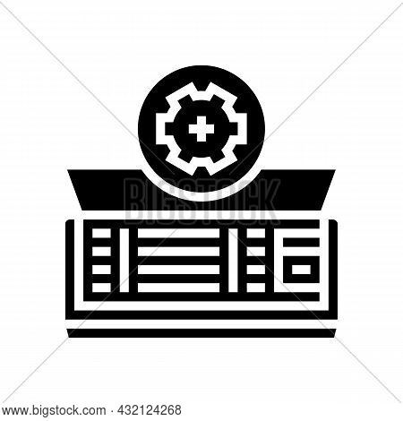 Air Conditioning Maintenance Glyph Icon Vector. Air Conditioning Maintenance Sign. Isolated Contour