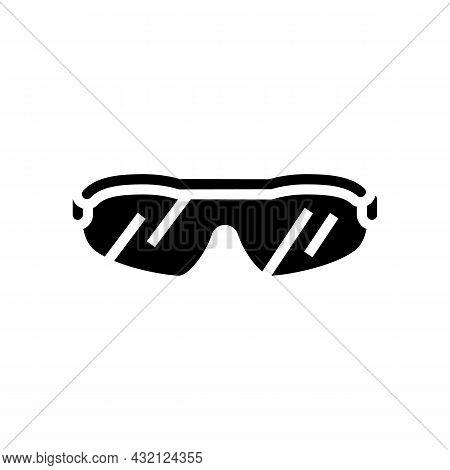 Sunglasses Golf Player Accessory Glyph Icon Vector. Sunglasses Golf Player Accessory Sign. Isolated