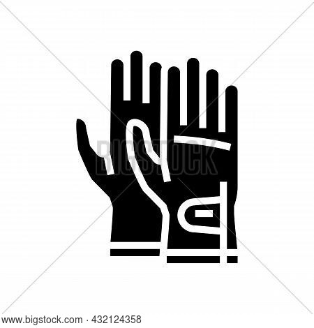 Gloves Golf Player Accessory Glyph Icon Vector. Gloves Golf Player Accessory Sign. Isolated Contour