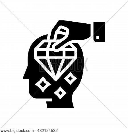 Brilliancy Knowledge Glyph Icon Vector. Brilliancy Knowledge Sign. Isolated Contour Symbol Black Ill