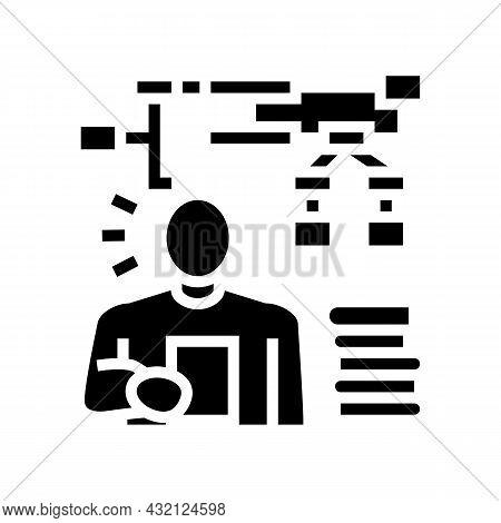 Learning Algorithm Glyph Icon Vector. Learning Algorithm Sign. Isolated Contour Symbol Black Illustr