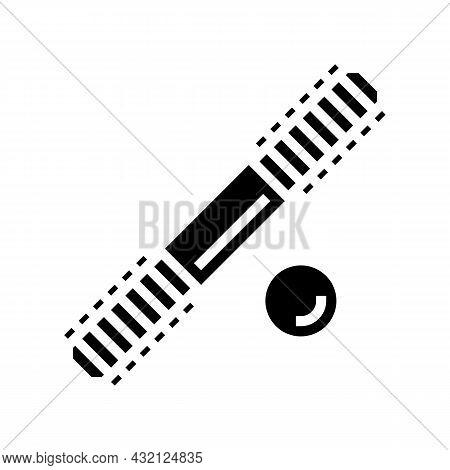 Set Stud Bolt Glyph Icon Vector. Set Stud Bolt Sign. Isolated Contour Symbol Black Illustration