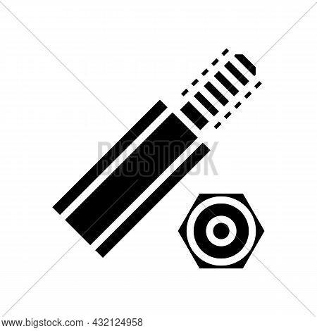 Hex Standoffs Glyph Icon Vector. Hex Standoffs Sign. Isolated Contour Symbol Black Illustration