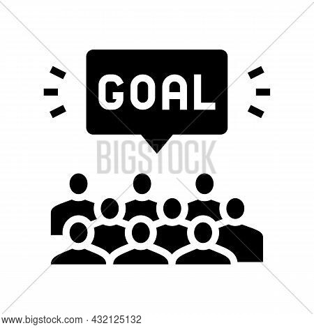 Fans Soccer Glyph Icon Vector. Fans Soccer Sign. Isolated Contour Symbol Black Illustration