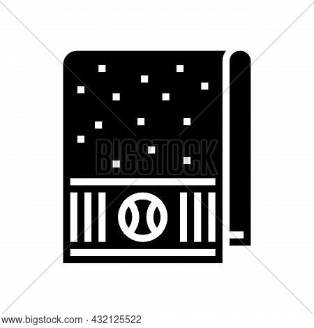 Towel Tennis Player Glyph Icon Vector. Towel Tennis Player Sign. Isolated Contour Symbol Black Illus