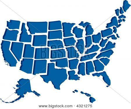 Vereinigten Staaten 3d Karte