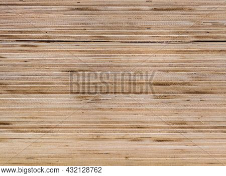 Texture And Flat Full Frame Background Of Plywood Veneer Stack.