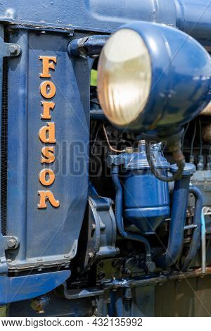 Honiton.devon.united Kingdom.july 2nd 2021.a Restored Vintage Fordson Major Tractor Is On Display At
