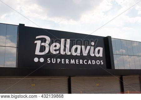 Brasilia, Df Brazil, September 6, 2021: A New Bellavia Supermarket In The Northwest Neighborhood Or