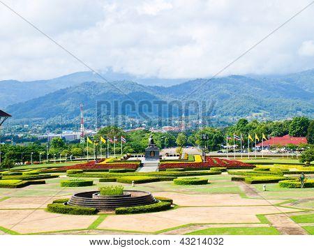 Moutainous view from Mae Fah Luang University Chiang Rai Thailand poster