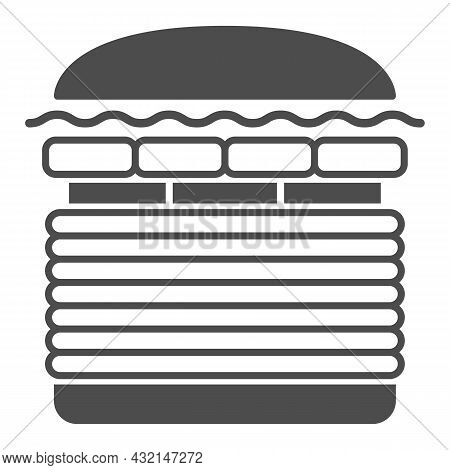 Burger Windows 7 Solid Icon, Fast Food Concept, Windows Seven Whooper Vector Sign On White Backgroun
