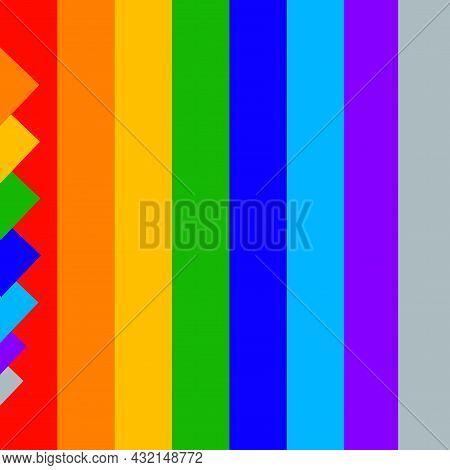 Abstract Pattern Lgbtq+ Internet Icons And Lgbt Community Labels Illustrations.